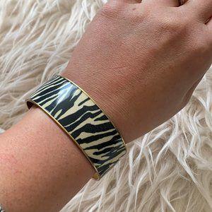 J. Crew Zebra Print Bangle Bracelet